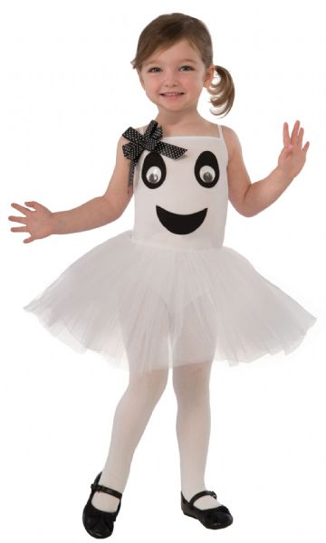 Girls Bootiful Ballerina Ghost Toddler Costume Dancer Ballet Fancy Dress Outfit